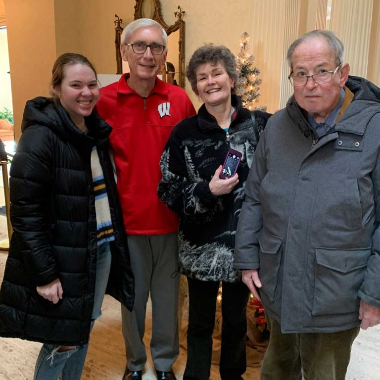Governor Evers met New Friends members